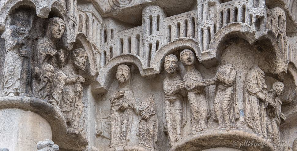Mary and Joseph meet, marry and go home, West Capital Frieze