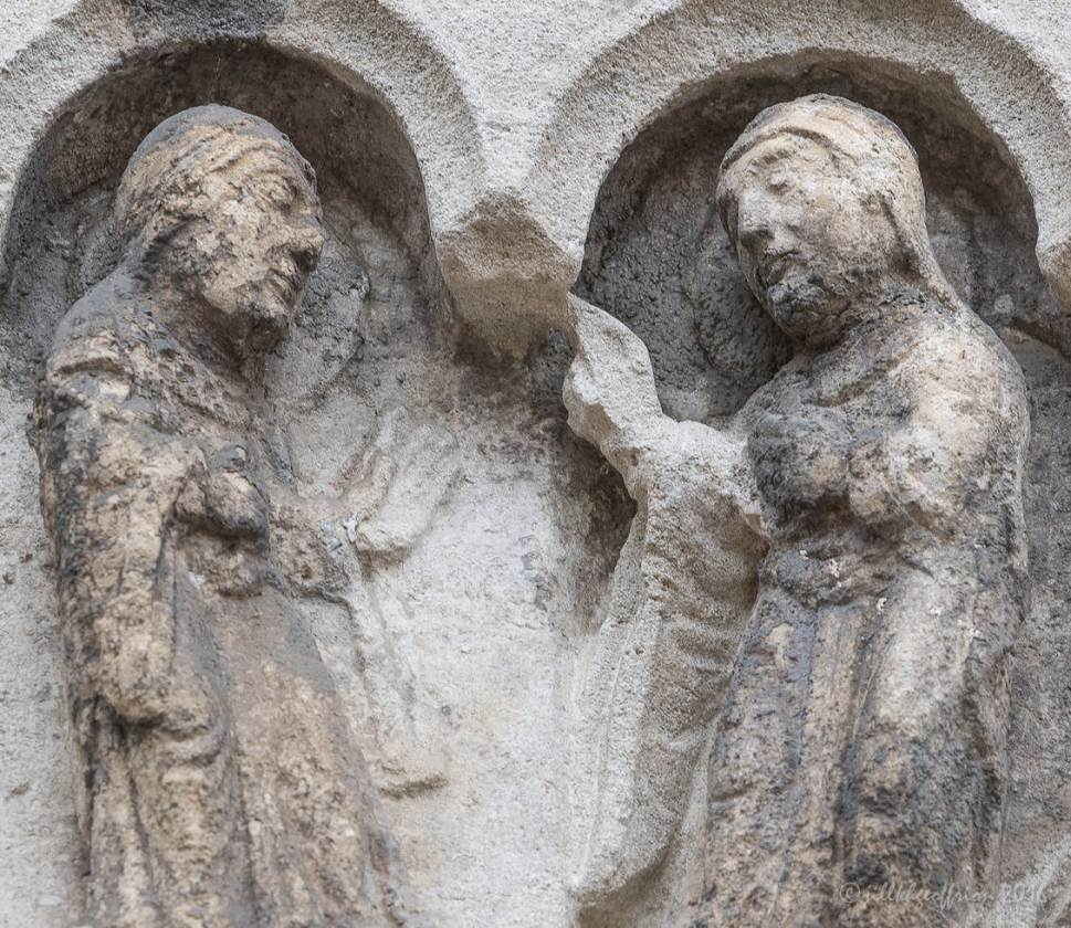 Mary Greeting Elizabeth The Visitation The West Capital Frieze At