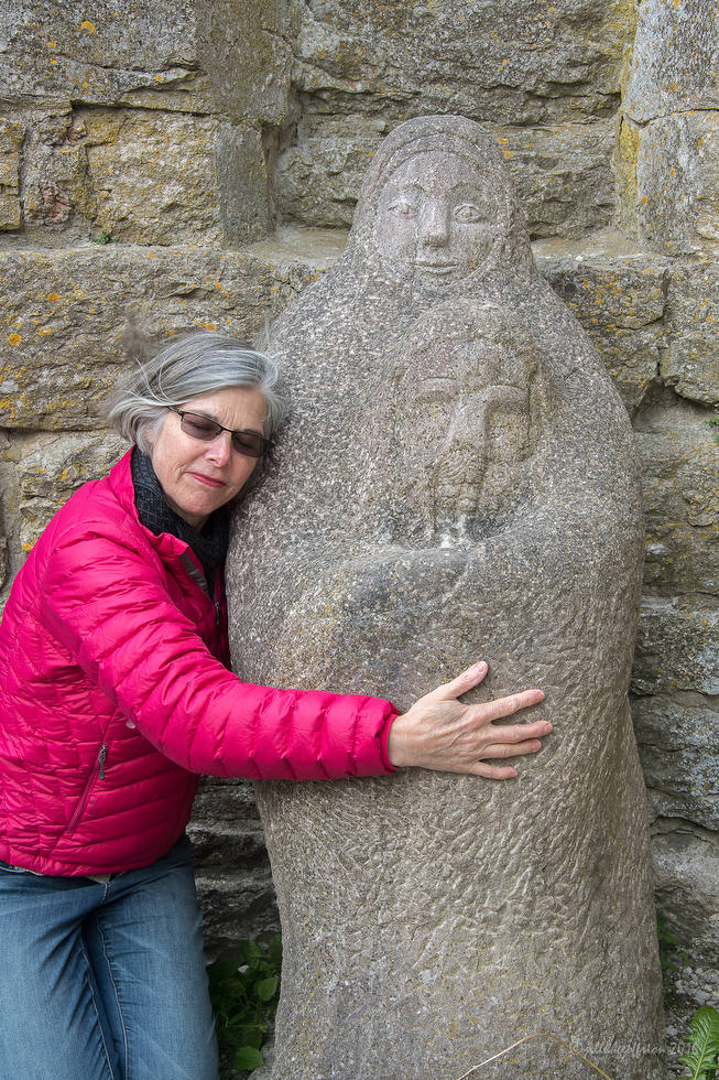 Mary holding her dead son, Roma ruins on Gotland by Sandy