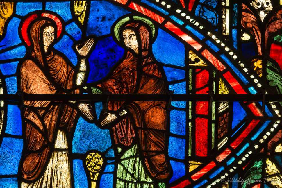 The Visitation, Life of Mary window by Jill K H Geoffrion