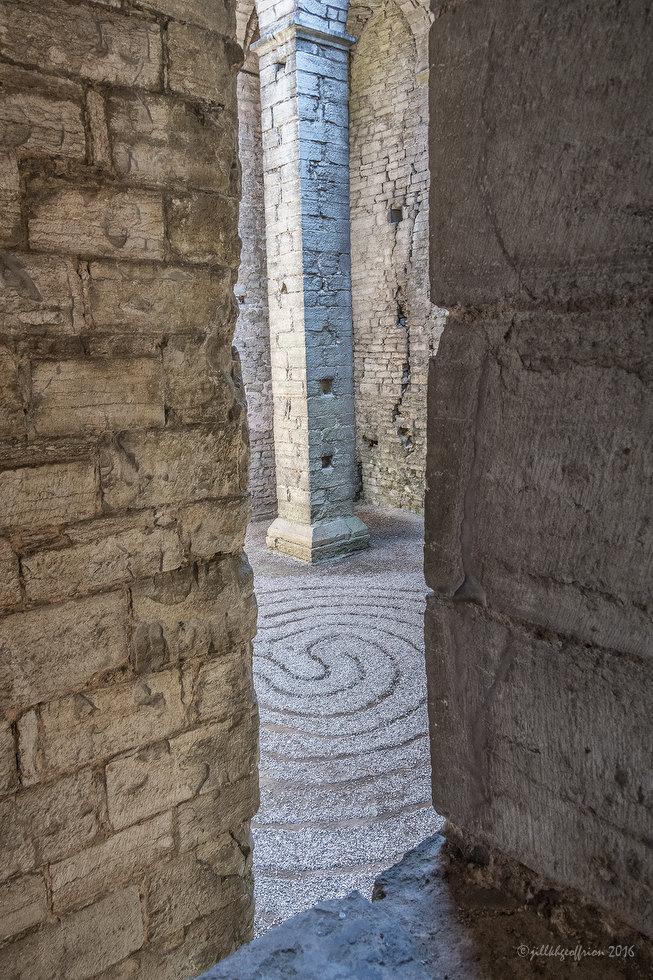 St. Lars Ruins Labyrinth by Jill K H Geoffrion