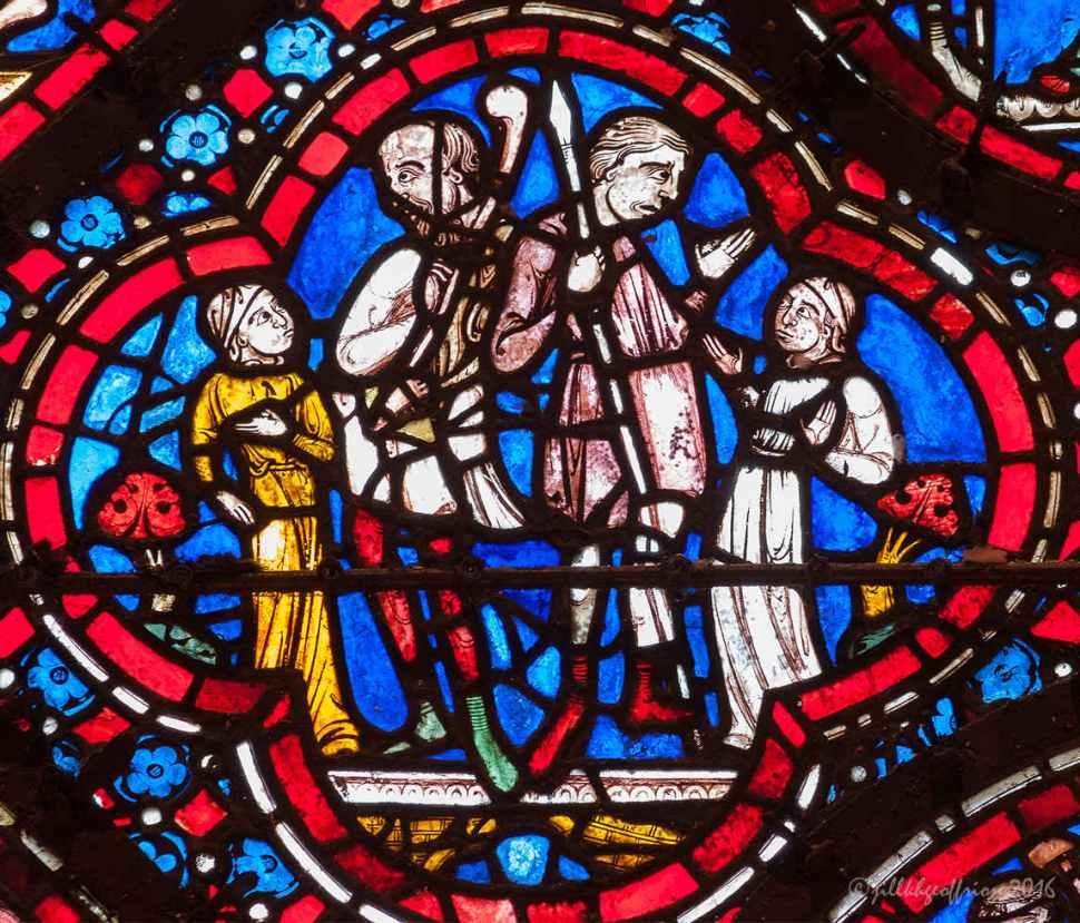 Detail of the Noah Window by Jill K H Geoffrion
