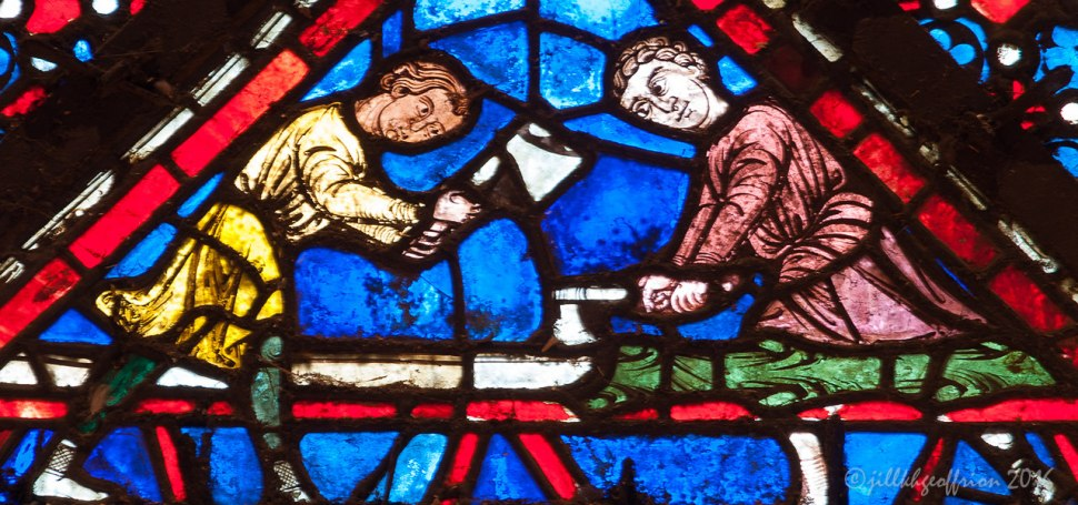 The donors of the Noah window by Jill K H Geoffrion