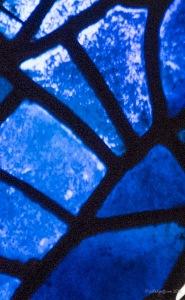 Blue in the Noah Window by Jill K H Geoffrion