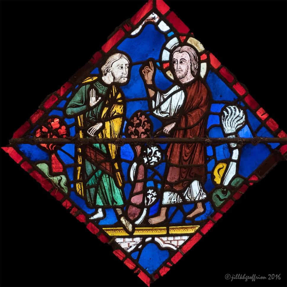 Noah Window at Chartres by Jill K H Geoffrion