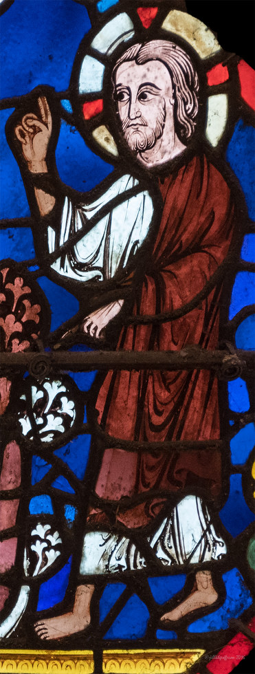 Noah Window at Chartres by Jill K H Geoffrion