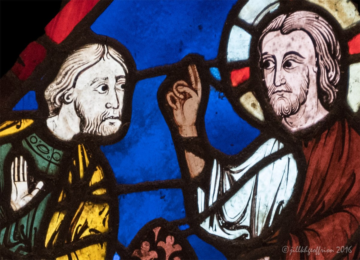 God Speaking with Noah: The Noah Window at Chartres (4)