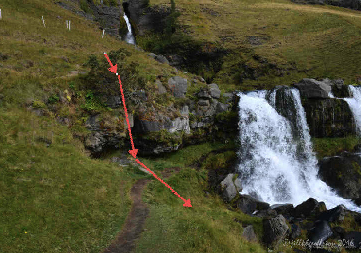 Gloggafoss Waterfall, Iceland by Jill K H Geoffrion
